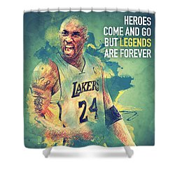 Kobe Bryant Shower Curtain by Taylan Apukovska