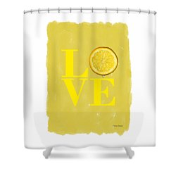 Lemon Shower Curtain by Mark Rogan