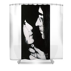 Lennon And Yoko Shower Curtain by Ashley Price