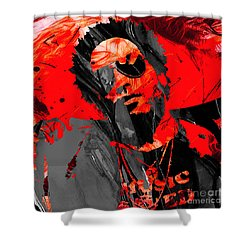 Lenny Kravitz Collection Shower Curtain by Marvin Blaine