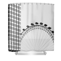 London Eye Shower Curtain by Joana Kruse