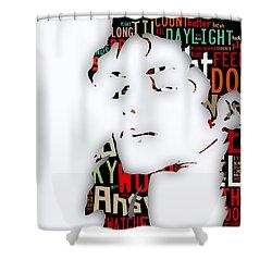 Michael Jackson I'm Bad Shower Curtain by Marvin Blaine