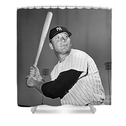 Mickey Mantle (1931-1995) Shower Curtain by Granger