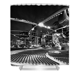 Millennium Park Shower Curtain by Sebastian Musial