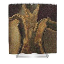 Minotaur  Shower Curtain by Quim Abella