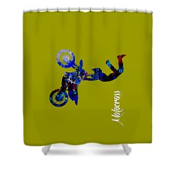 Motocross Collection Shower Curtain by Marvin Blaine