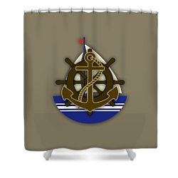 Nautical Collection Shower Curtain by Marvin Blaine