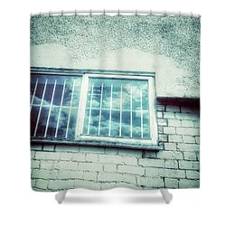 Old Window Bars Shower Curtain by Tom Gowanlock
