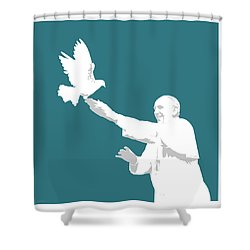 Pope Francis Shower Curtain by Greg Joens