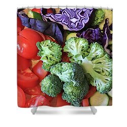 Raw Ingredients Shower Curtain by Tom Gowanlock