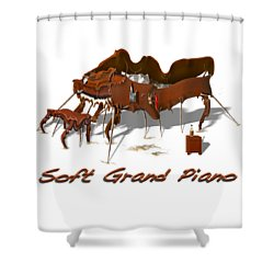 Soft Grand Piano  Shower Curtain by Mike McGlothlen