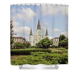 St. Louis Cathedral Shower Curtain by Scott Pellegrin