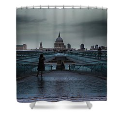 St Paul's Cathedral Shower Curtain by Martin Newman