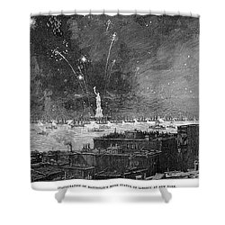 Statue Of Liberty, 1886 Shower Curtain by Granger