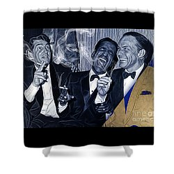 The Rat Pack Collection Shower Curtain by Marvin Blaine