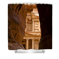The Treasury Of Petra Shower Curtain by Michele Burgess