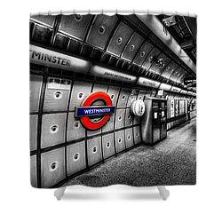 Underground London Shower Curtain by David Pyatt