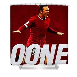 Wayne Rooney Shower Curtain by Semih Yurdabak