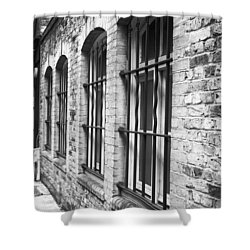 Window Bars Shower Curtain by Tom Gowanlock