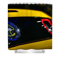 2012 Ford Mustang Boss 302 Laguna Seca Shower Curtain by Gordon Dean II