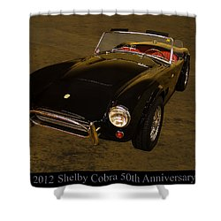 2012 Shelby Cobra 50th Anniversary  Shower Curtain by Chris Flees