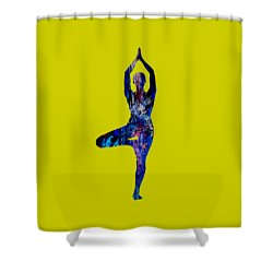 Yoga Collection Shower Curtain by Marvin Blaine