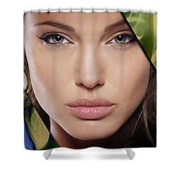 Angelina Jolie Collection Shower Curtain by Marvin Blaine