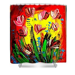 Tulips Shower Curtain by Mark Kazav