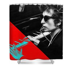 Bob Dylan Collection Shower Curtain by Marvin Blaine
