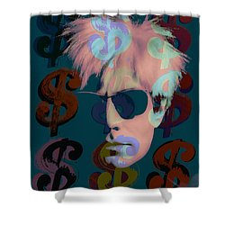 Andy Warhol Collection Shower Curtain by Marvin Blaine