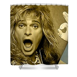 David Lee Roth Collection Shower Curtain by Marvin Blaine
