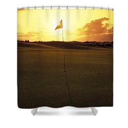 Kapalua Golf Club Shower Curtain by Carl Shaneff - Printscapes