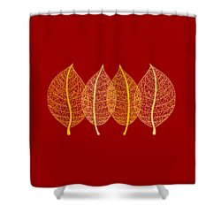 Leaves Shower Curtain by Frank Tschakert