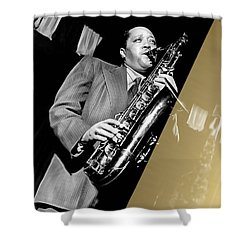 Lester Young Collection Shower Curtain by Marvin Blaine