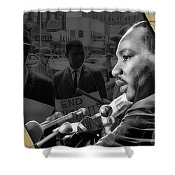 Martin Luther King Collection Shower Curtain by Marvin Blaine