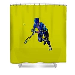 Mens Tennis Collection Shower Curtain by Marvin Blaine