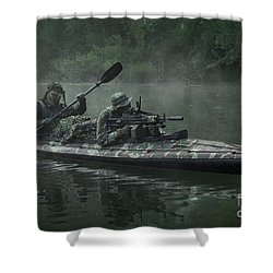 Navy Seals Navigate The Waters Shower Curtain by Tom Weber
