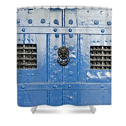 Old Blue Door Shower Curtain by Tom Gowanlock