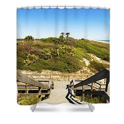 Ponte Vedra Beach Shower Curtain by Raul Rodriguez