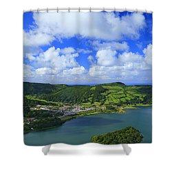 Sete Cidades - Azores Shower Curtain by Gaspar Avila