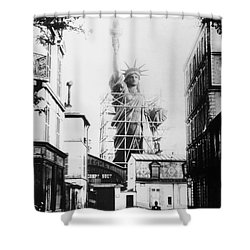 Statue Of Liberty, Paris Shower Curtain by Granger