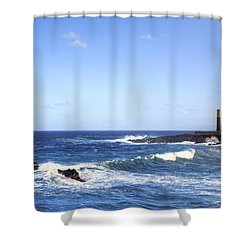 Tenerife - Garachico  Shower Curtain by Joana Kruse