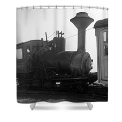 Train Shower Curtain by Sebastian Musial