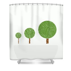 3 Trees Shower Curtain by Frank Tschakert