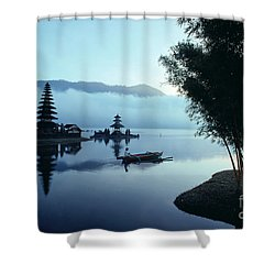 Ulu Danu Temple Shower Curtain by William Waterfall - Printscapes