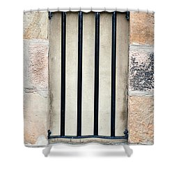 Window Bars Shower Curtain by Tom Gowanlock