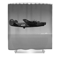 Wwii Us Aircraft In Flight Shower Curtain by American School