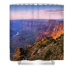 Canyon Glow Shower Curtain by Mikes Nature