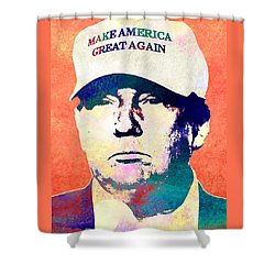 Donald Trump 2016 Presidential Candidate Shower Curtain by Elena Kosvincheva