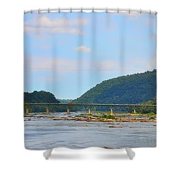 340 Bridge Harpers Ferry Shower Curtain by Bill Cannon